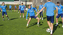 Barça B squad were back in training at Ciutat Esportiva on Monday / VICTOR SALGADO - FCB