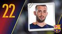 Potret Aleix  Vidal Parreu. Nomor punggung 22