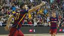 Juan Emilio s'ha estrenat com a golejador amb el primer equip del Barça a la Lliga / VÍCTOR SALGADO - FCB