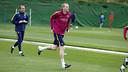 Jérémy Mathieu during training this week / MIGUEL RUIZ - FCB