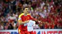 Lazarov lucha con Macedonia, para conseguir el pase a la segunda fase / FOTO:Uros Hocevar-EHF