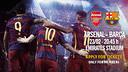 Tickets applications for Arsenal v FC Barcelona / FCB