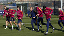 Wednesday night's starters went through a special recovery session on Thursday morning. / MIGUEL RUIZ - FCB