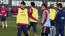 Suárez et Neymar, pendant l'entrainement / MIGUEL RUIZ - FCB