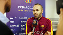 Andrés Iniesta speaking about the semi-final on Barça TV / MIGUEL RUIZ - FCB
