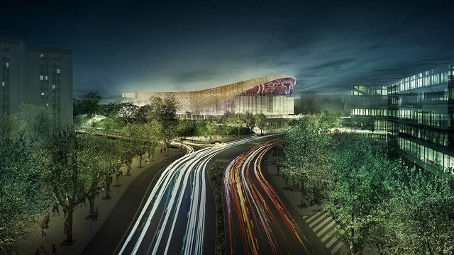 Panoramic image of the New Palau Blaugrana