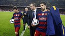 Lionel Messi (left) and Luis Suárez were all FC Barcelona needed on Wednesday night. / MIGUEL RUIZ-FCB