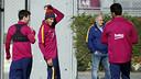 Messi, Neymar and Suárez, at training session / MIGUEL RUIZ - FCB