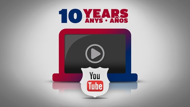 FC Barcelona celebrates ten years on YouTube / FOTOMUNTATGE FCB