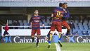 Kaptoum celebrating the first goal of the game for Barça B / VÍCTOR SALGADO - FCB