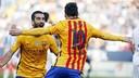 Arda Turan et Leo Messi célèbrent un but contre Malaga / MIGUEL RUIZ-FCB