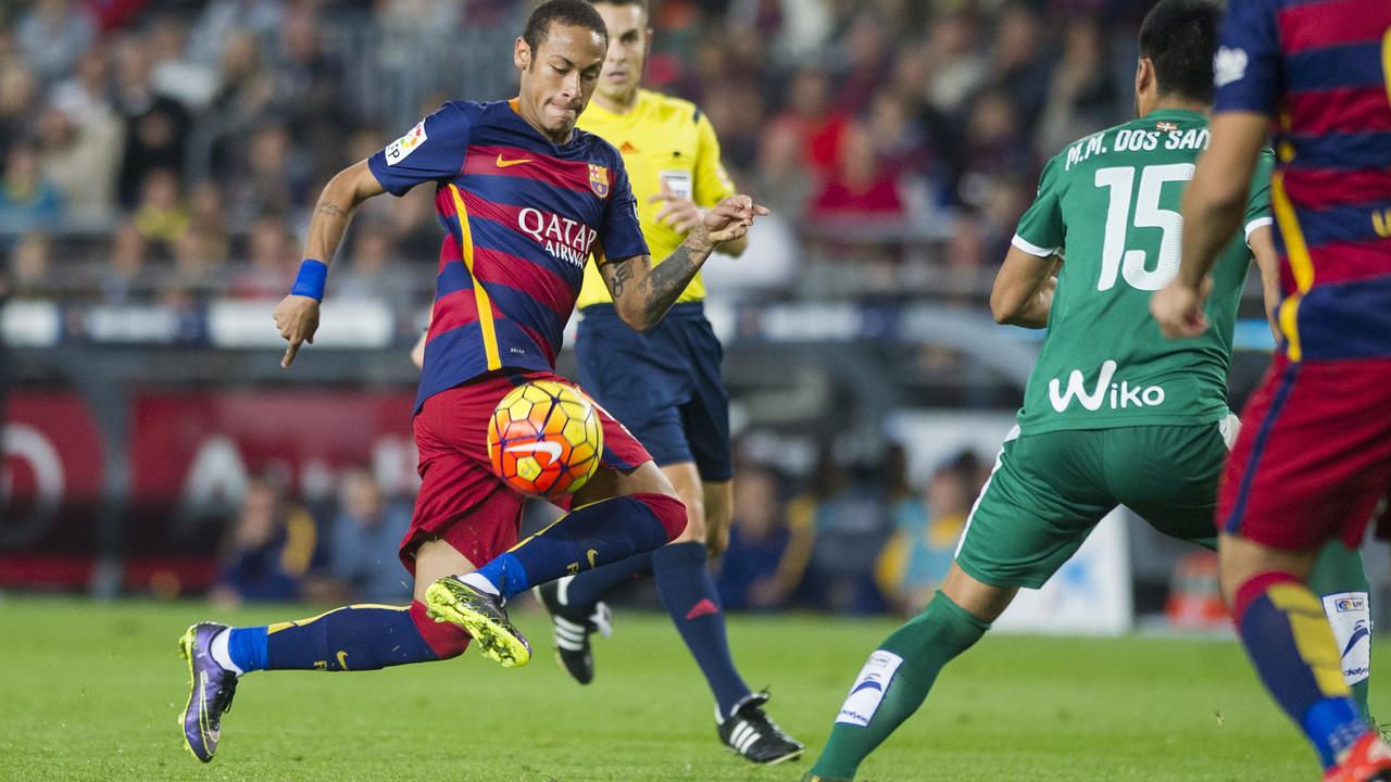 Neymar, en una imatge en el partit de la primera volta contra l'Eibar / MIGUEL RUIZ - FCB