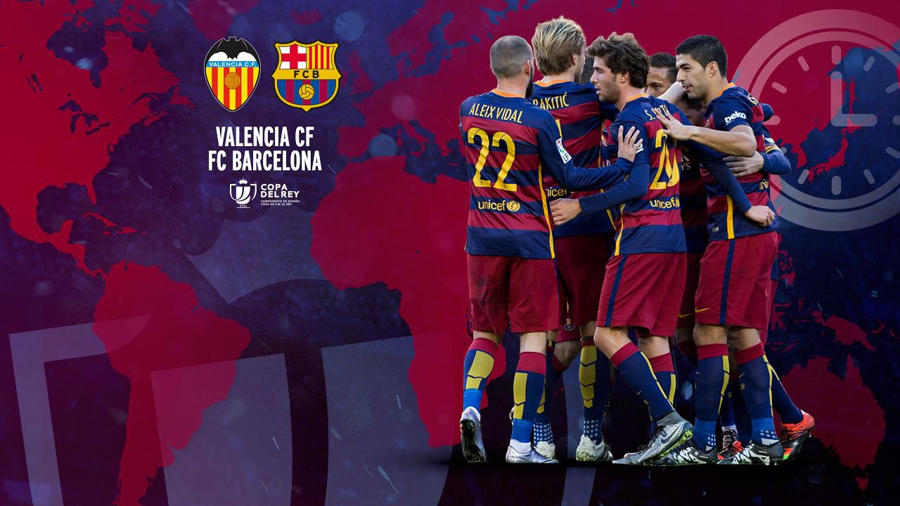 Jadwal tayang Copa Valencia CF - FC Barcelona / FCB