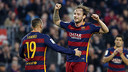 Rakitic celebrating goal this season / MIGUEL RUIZ - FCB
