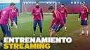 En directo, el inicio del entrenamiento del Barça