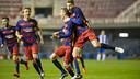 Barça B celebrating a goal this season / VÍCTOR SALGADO - FCB
