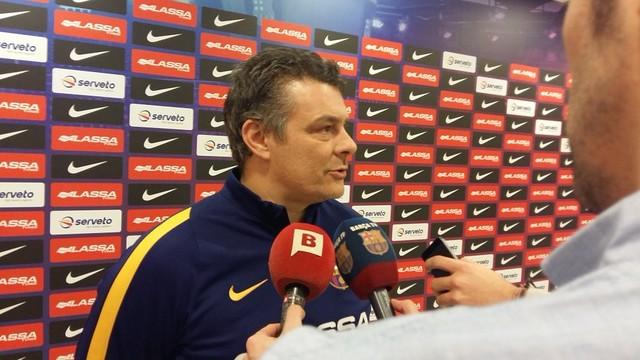 Xavi Pascual, en una rueda de prensa / FCB