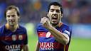 Suárez après son but / MIGUEL RUIZ - FCB