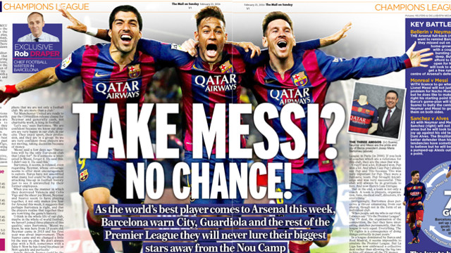 Josep Maria Bartomeu's interview with the Daily Mail on Sunday. / Daily Mail