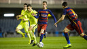 Cámara in action earlier this season at the Miniestadi / ARXIU FCB