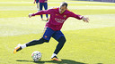 Sandro Ramírez, during Friday's training session. / MIGUEL RUIZ - FCB