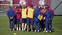 The first team trained on Friday at the Ciutat Esportiva / MIGUEL RUIZ - FCB