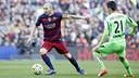 Andrés Iniesta as was steady as always against Getafe. / MIGUEL RUIZ - FCB