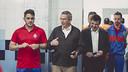 Pau Vilanova with players of PB Melilla