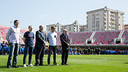 A minute's silence with Edmilson, Iniesta, Òscar Grau, Samper and Silvio Elías was observed / GERMÁN PARGA - FCB