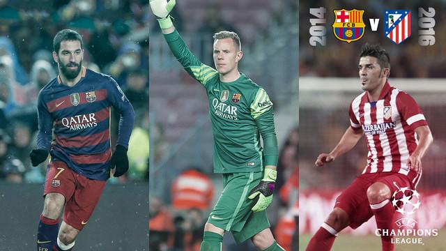 Arda, Ter Stegen y Villa han cambiado de equipo desde la última eliminatoria / FOTOMONTAJE FCB