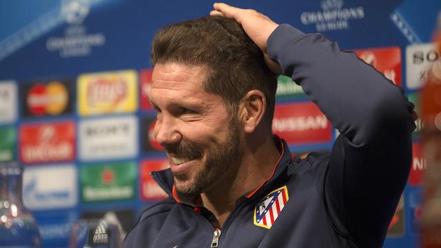 Simeone, en rueda de prensa / MIGUEL RUIZ - FCB