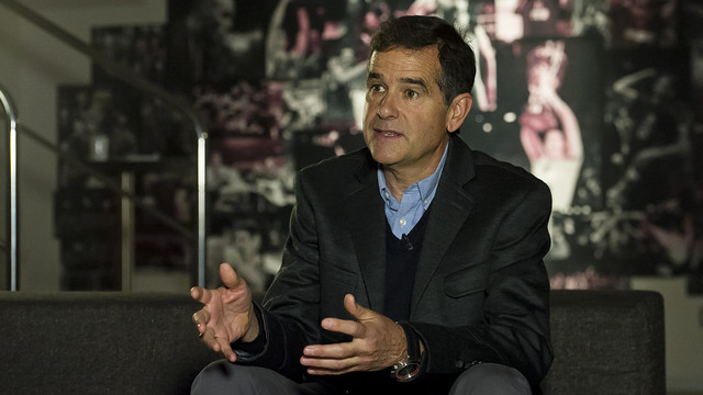 Nacho Solozabal durante una entrevista con Barça TV / VÍCTOR SALGADO - FCB
