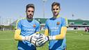 José Aurelio Suárez y Jokin Ezkieta en la Ciudad Deportiva / VÍCTOR SALGADO - FCB