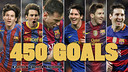 Messi reaches 450 goals