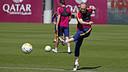Andrés Iniesta, pendant l'entrainement / MIGUEL RUIZ - FCB