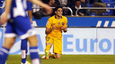 Marc Bartra celebrates his place in the starting XI with a fine goal against Deportivo / MIGUEL RUIZ - FCB