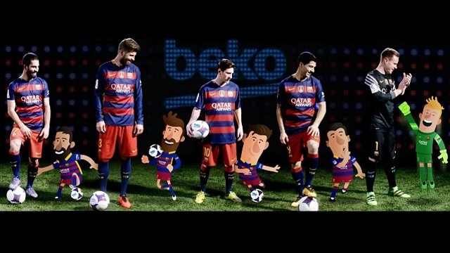The players take part in the latest Beko advert