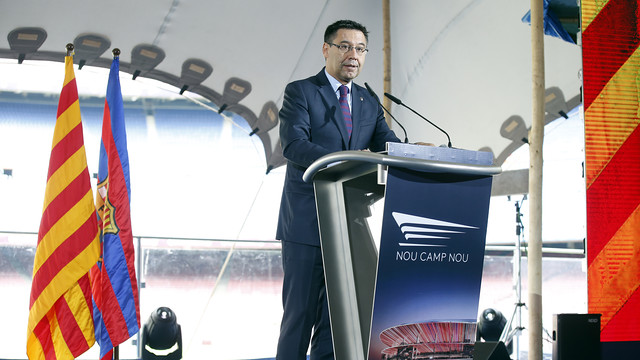Josep Maria Bartomeu presents the New Camp Nou / MIGUEL RUIZ - FCB