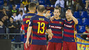 Barça Lassa futbol sala celebra gol