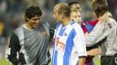 Abelardo conversa con Roberto Bonano / MIGUEL RUIZ - FCB