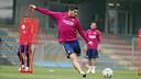Luis Suárez en un entrenamiento de la última semana / MIGUEL RUIZ - FCB