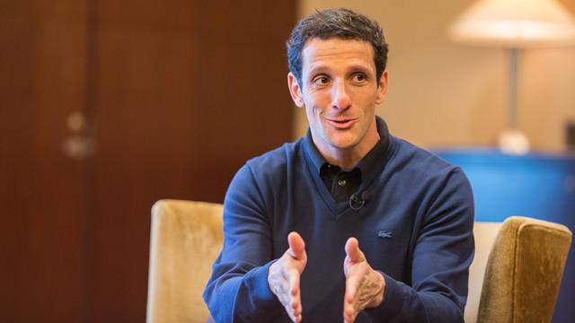 Juliano Belletti, durante a entrevista feita no Mundial de Clubes FIFA no Japão