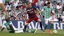 Rakitic durant el partit contra el Betis / MIGUEL RUIZ - FCB