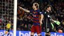 Rakitic celebra el gol marcado ante el Athletic Club en el Camp Nou esta temporada / MIGUEL RUIZ - FCB