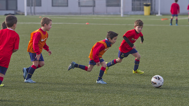 Children training at FCBEscola / VÍCTOR SALGADO - FCB