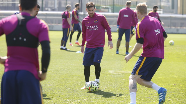 Leo Messi at the Tuesday training session / MIGUEL RUIZ-FCB