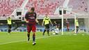 Dani Romera, celebrando el gol del triunfo contra el Eldense / VICTOR SALGADO-FCB