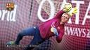 Ter Stegen, en un entrenament a la Ciutat Esportiva / FCB