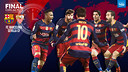 ビセンテ・カルデロンで行われるバルサ対セビージャの国王杯決勝 / FCB