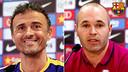Luis Enrique and Iniesta press conference / FCB